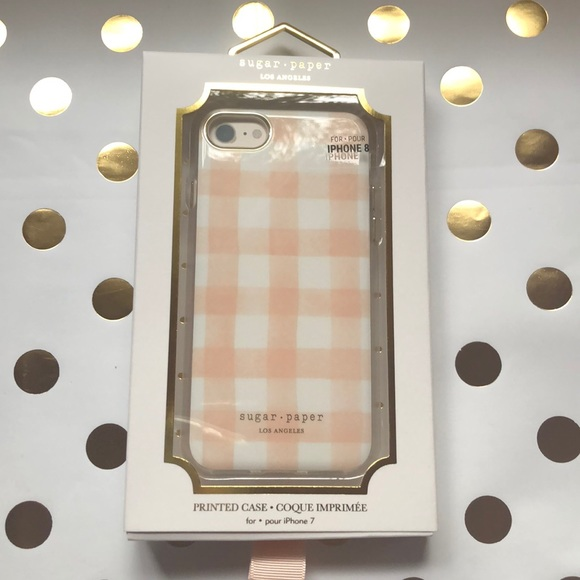 the latest 6ba13 d0c4b Sugar Paper iPhone 7 8 phone case pink gingham NWT